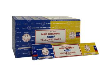 Satya - Nag Champa Combination Incense Sticks with Yellow Flower