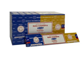 Satya - Nag Champa Combination Incense Sticks with Copal