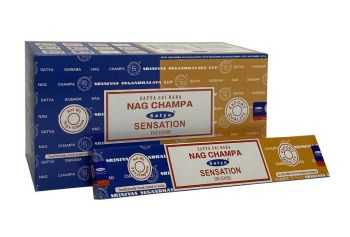 Satya - Nag Champa Combination Incense Sticks with Sensation