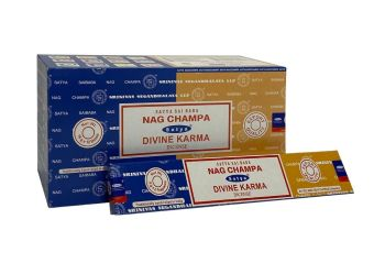 Satya - Nag Champa Combination Incense Sticks with Divine Karma