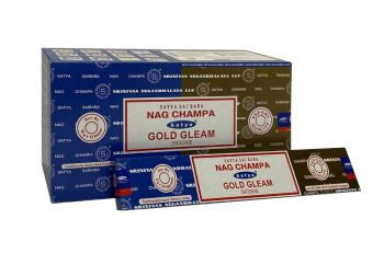 Satya - Nag Champa Combination Incense Sticks with Gold Gleam