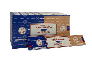 Satya - Nag Champa Combination Incense Sticks with Greetings