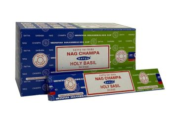 Satya - Nag Champa Combination Incense Sticks with Holy Basil
