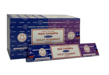 Satya - Nag Champa Combination Incense Sticks with Violet Rosemary