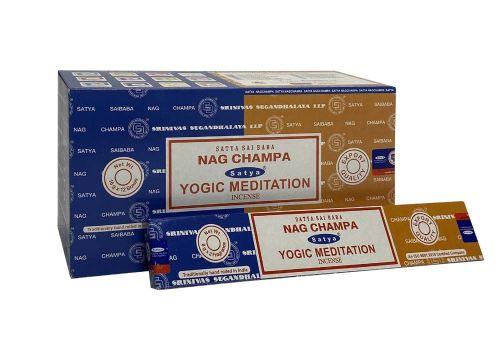 Satya - Nag Champa Combination Incense Sticks with Yogic Meditation