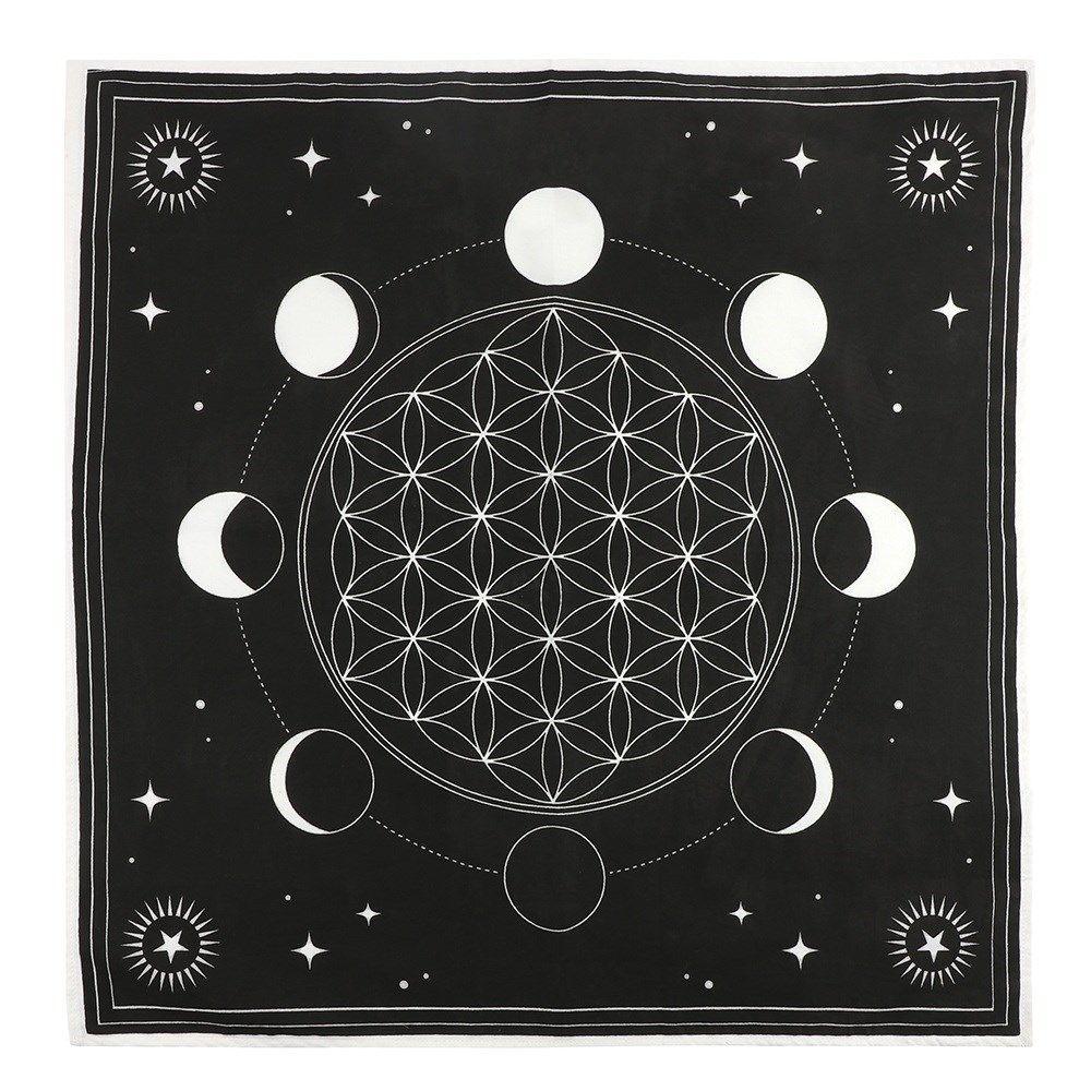 Altar Cloth/Crystal Grid - Moon Phase Flower of Life