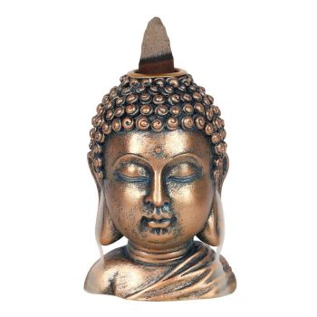 Backflow Incense Burner - Buddha Head 9.5cm
