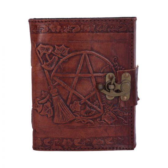 Pentagram Leather Emboss Journal + Lock