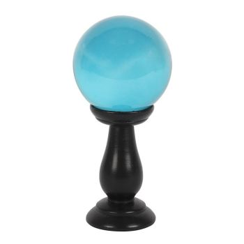 Crystal Ball - Teal 9cm on stand