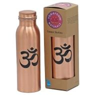 Copper Drinking Bottle - Ohm Printed Design