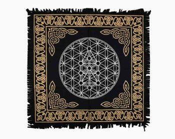 Altar Cloth - Flower of Life - 60cm x 60cm