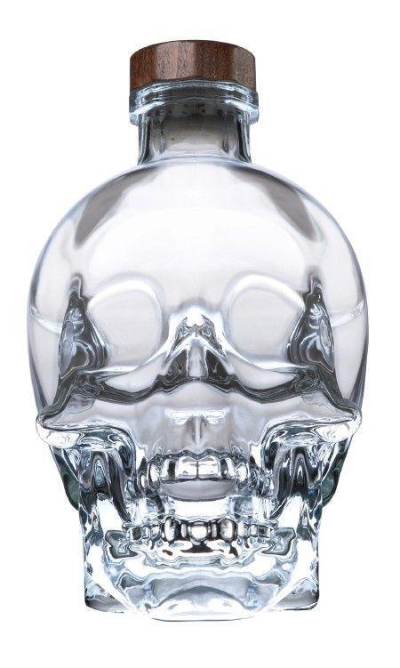 Glass Skull Bottle - 400ml