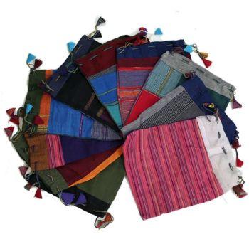 Vintage JeevanKala Cotton Tarot Bag - Embroidered Tarot Bag - 18cm x 22cm
