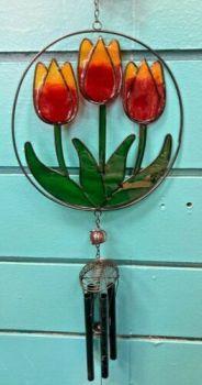 Red Tulip Windchime