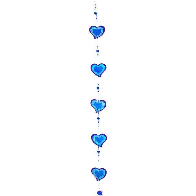 Purple & Blue Heart String Suncatcher