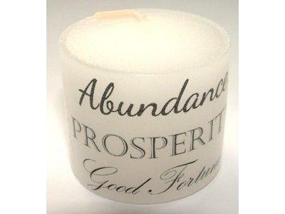 Candle - Abundance Prosperity Good Fortune - 3.5cm
