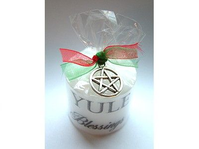 Candle - Sabbat - Yule with Lucky Charm - 3.5cm