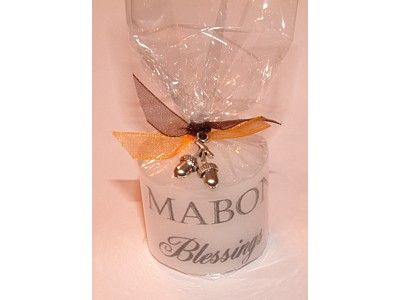 Candle - Sabbat - Mabon with Lucky Charm - 3.5cm
