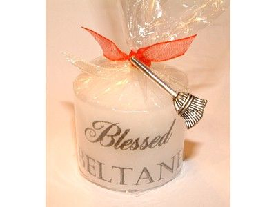 Candle - Sabbat - Beltane with Lucky Charm - 3.5cm