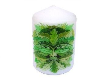 Candle - The Green Man - 8 x 5.7cm - 15 hour