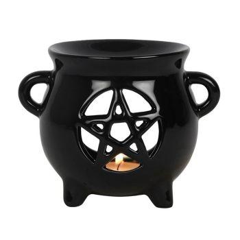 Cauldron Oil Burner - Pentagram