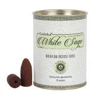 Goloka Backflow Incense Cones - White Sage