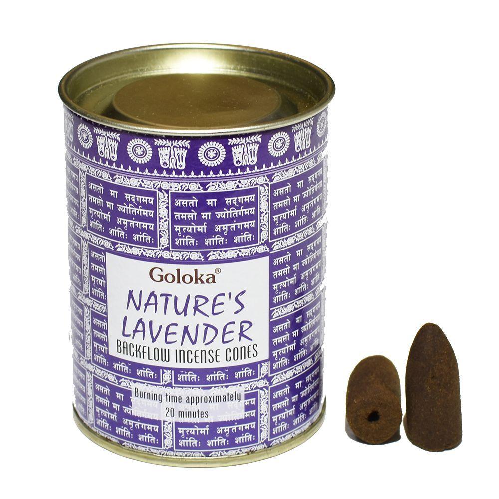 Goloka Backflow Incense Cones - Nature's Lavender