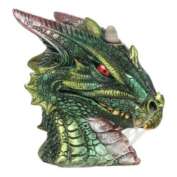 Backflow Incense Burner - Green Dragon Head