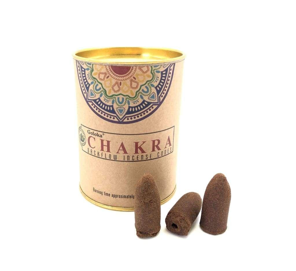 Goloka Backflow Incense Cones - Chakra