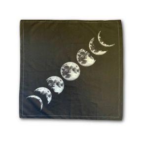 Altar Cloth - Moon Phases 70cm x 70cm