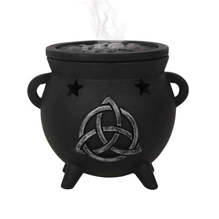 Triquetra Cauldron Incense Cone Burner