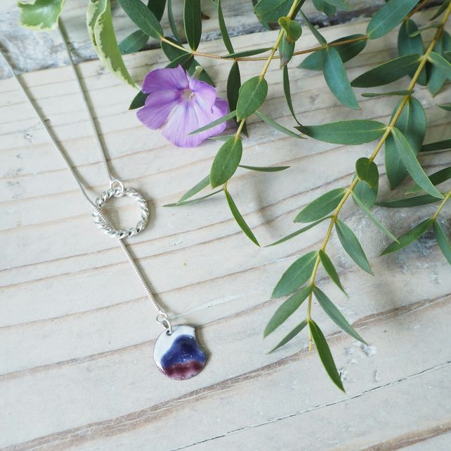 Mountains and Vortex Lariat Necklace