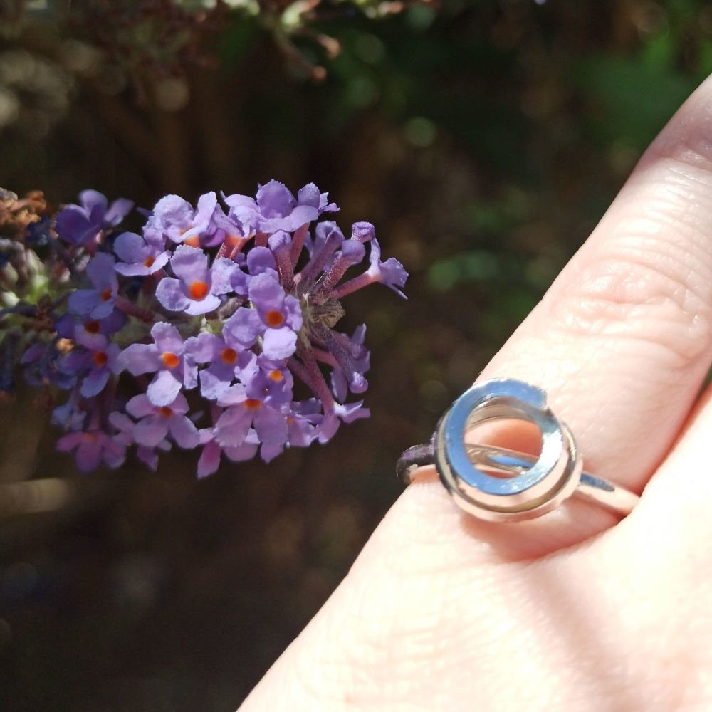 Chunky Spiral Statement Ring - Size M