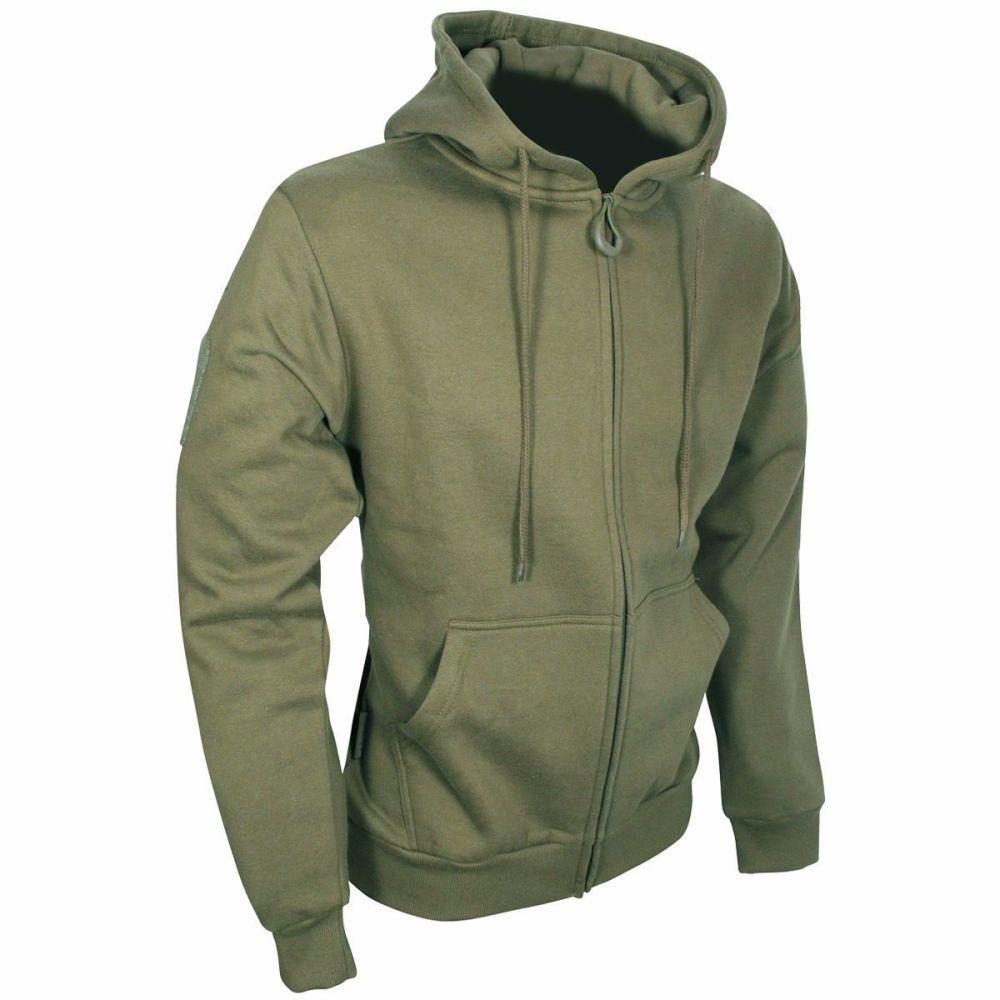 Viper Tactical Zipped Hoodie in Khaki Green