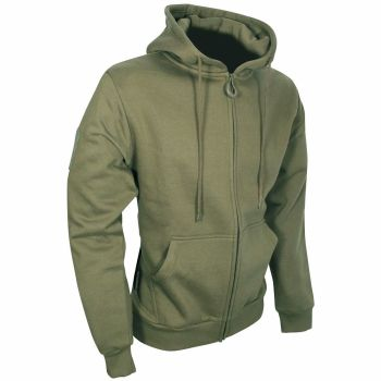 Viper Tactical Zipped Hoodie in Khaki Green