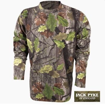 Men's Long Sleeve T-Shirt in EVO Camo from Jack Pyke