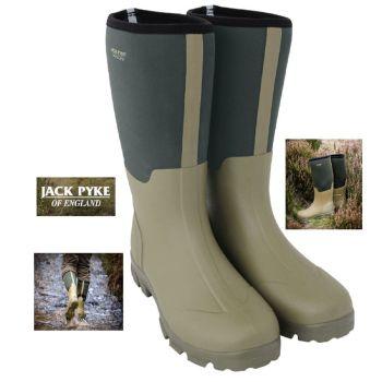 Jack Pyke Ashcombe Wellington Boots in Half Neoprene