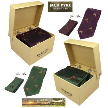 Tie, Hanky & Cufflinks Pheasant Gift Set from Jack Pyke
