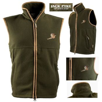 Jack Pyke Countryman Fleece Gilet with Pheasant Motif