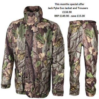 Jack Pyke Shooting / Hunter's Jacket and Trousers set in Evolution Oak Camouflage Pattern