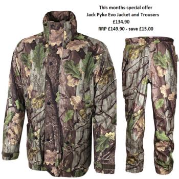 Jack Pyke Shooting / Hunter's Jacket and Trousers set in Evolution Oak Camouflage Pattern