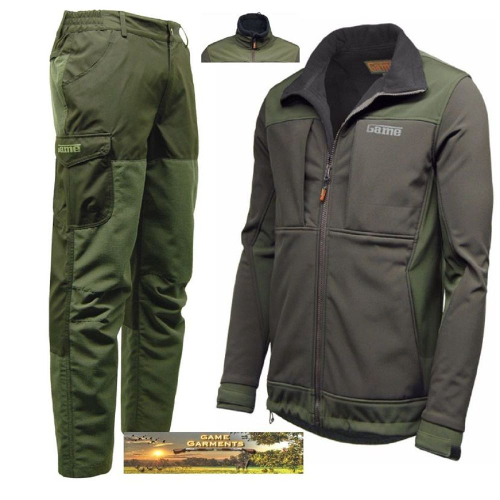 GAME EXCEL RIP STOP TROUSERS & VIPER SOFT SHELL JACKET COMBINATION