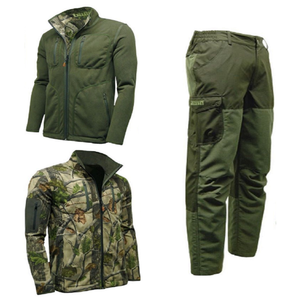 Game Pursuit Reversible Jacket & Excel Ripstop Trousers Set. Hunting / Beat