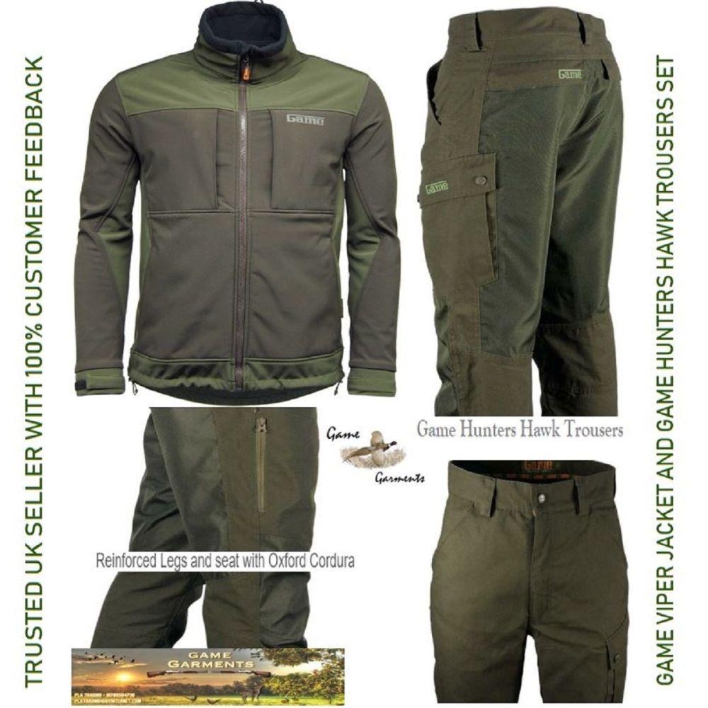 Game Hunters Hawk Trousers & Viper Soft Shell Jacket Combination Set