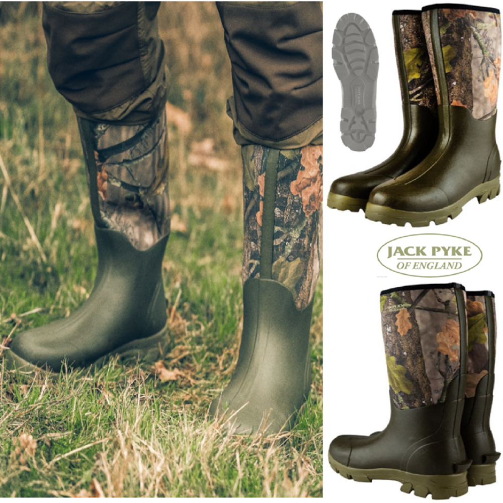 Ashcombe Neoprene Camouflage Wellington Boots