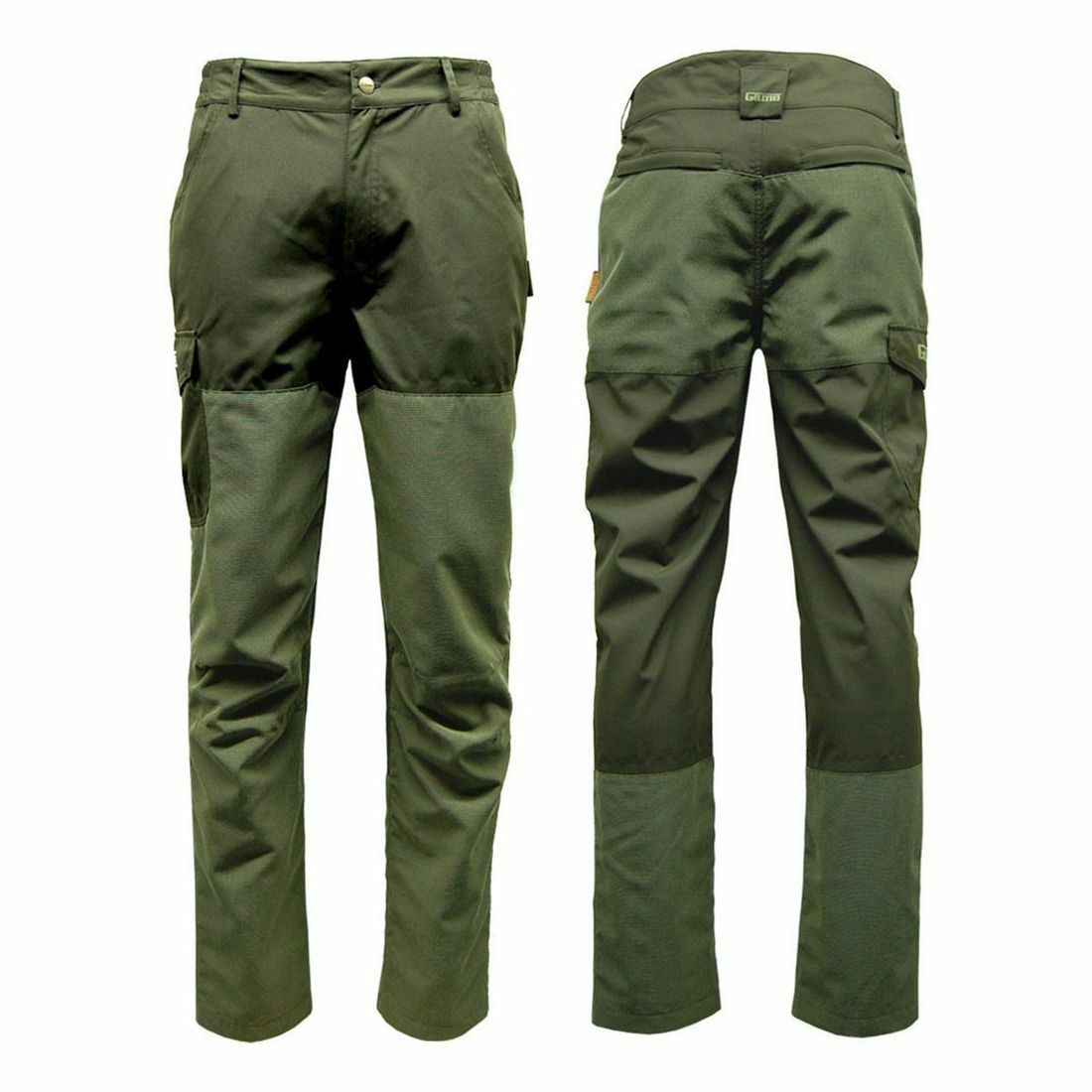 Game Excel Ripstop Waterproof Trousers in Khaki Green