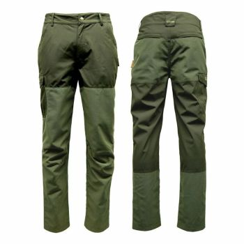 Game Excel Ripstop Waterproof Trousers in Khaki Green