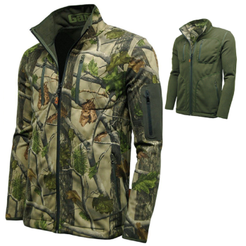 Game Pursuit Reversible Waterproof Jacket, Camo & Olive Green / Brown.