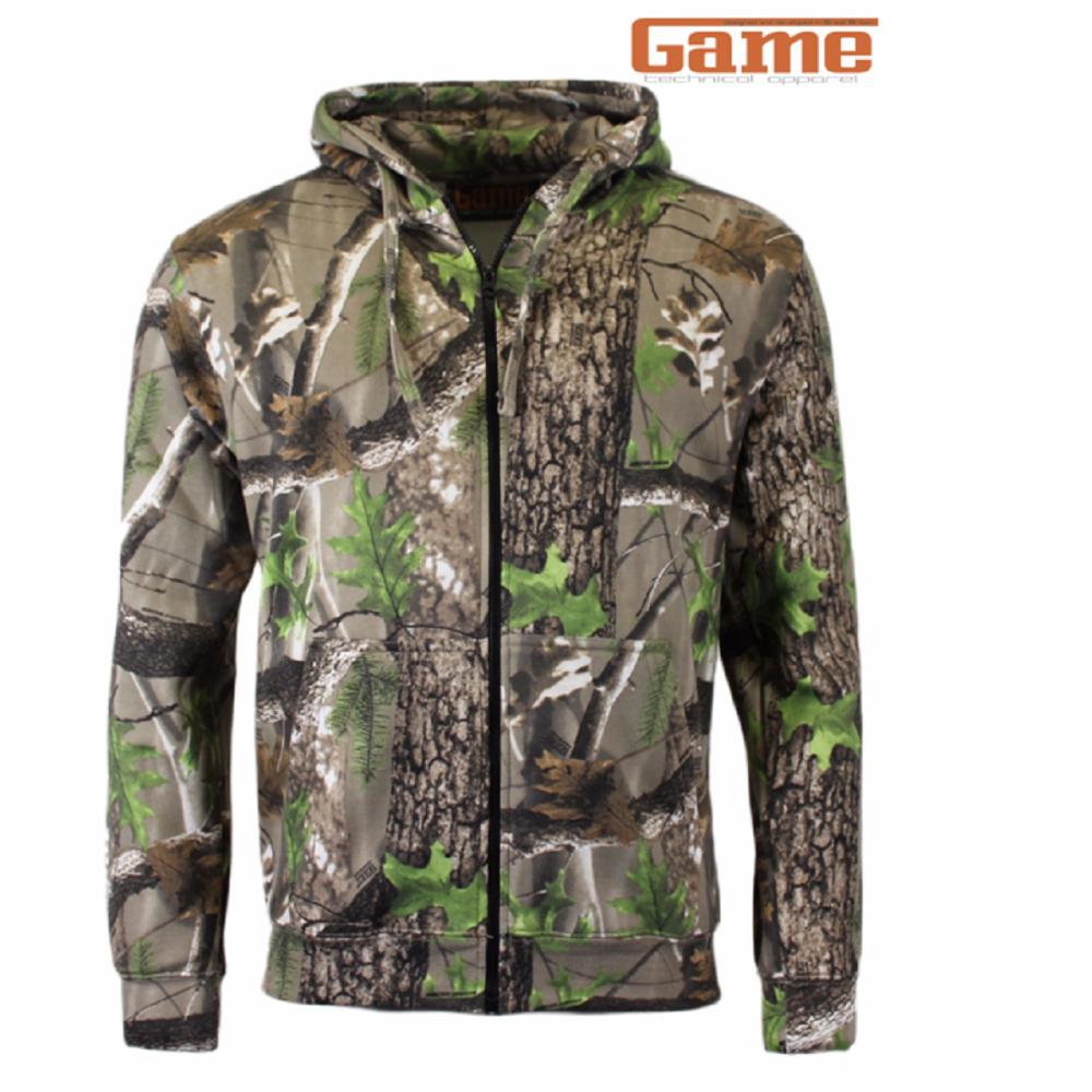 Game Trek Camouflage Zipper Hoodie Top