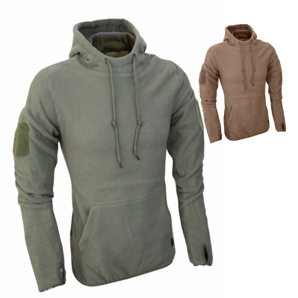 Viper Tactical Fleece Hoodie in Green or Coyote Brown